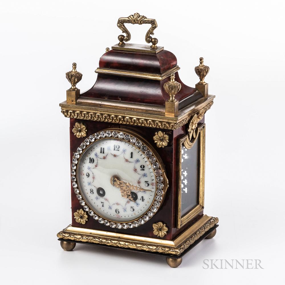Faux Tortoiseshell Carriage Clock
