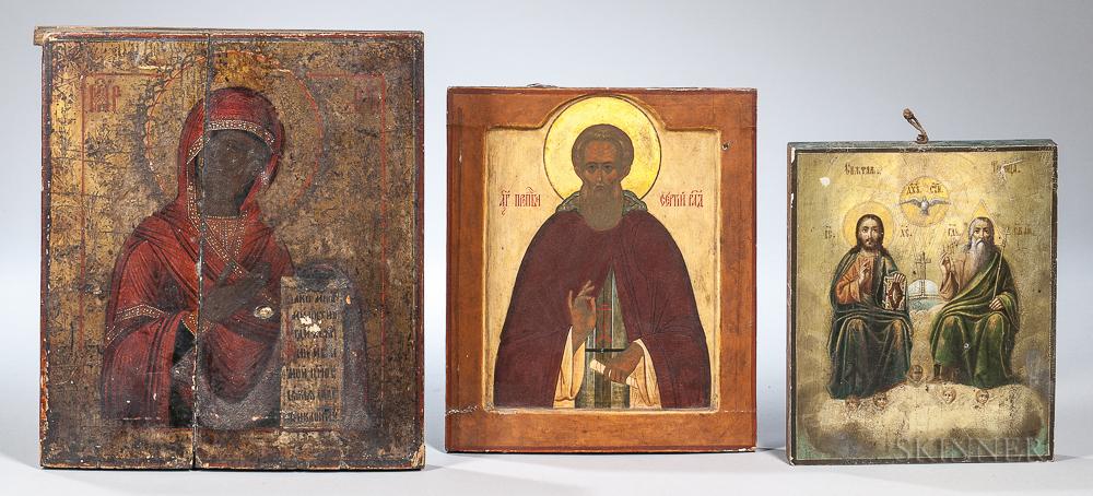 Three Eastern Orthodox Icons