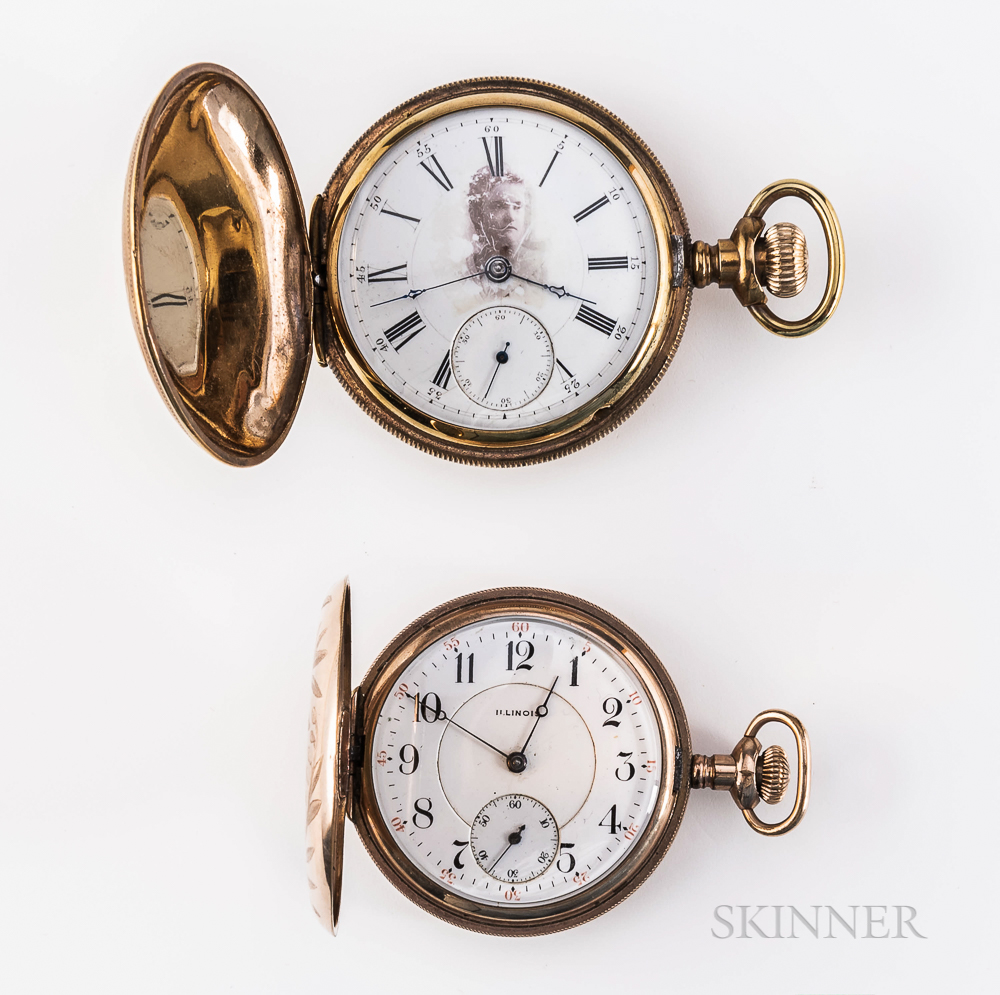 Two American Gold-filled Hunter-case Watches