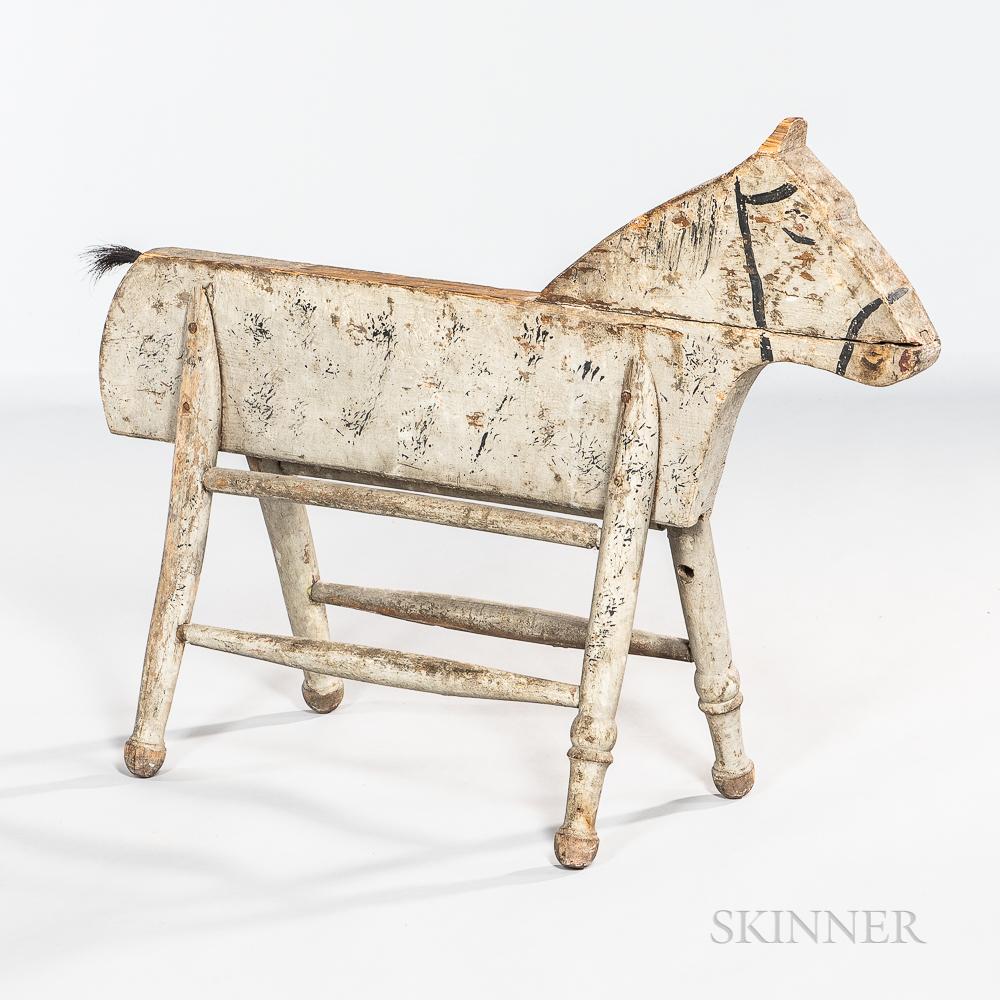 Paint-decorated Folk Art Horse