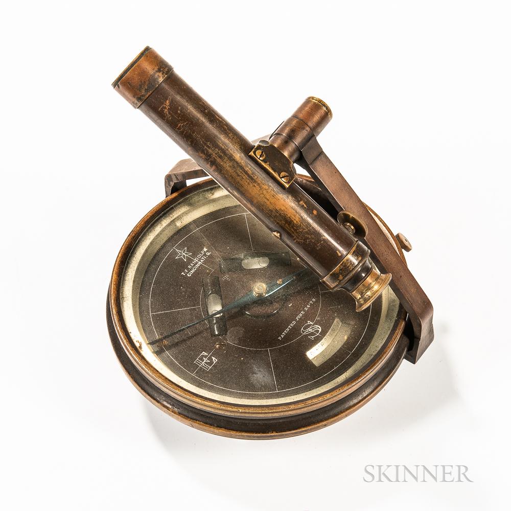 T.F. Randolph Surveyor's Compass with Scope