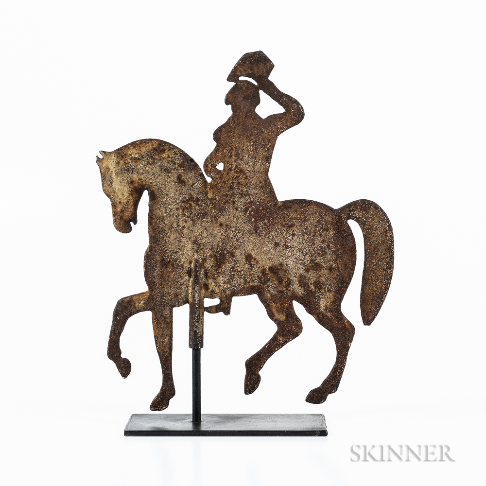 Cast Iron George Washington on Horseback Silhouette Weathervane