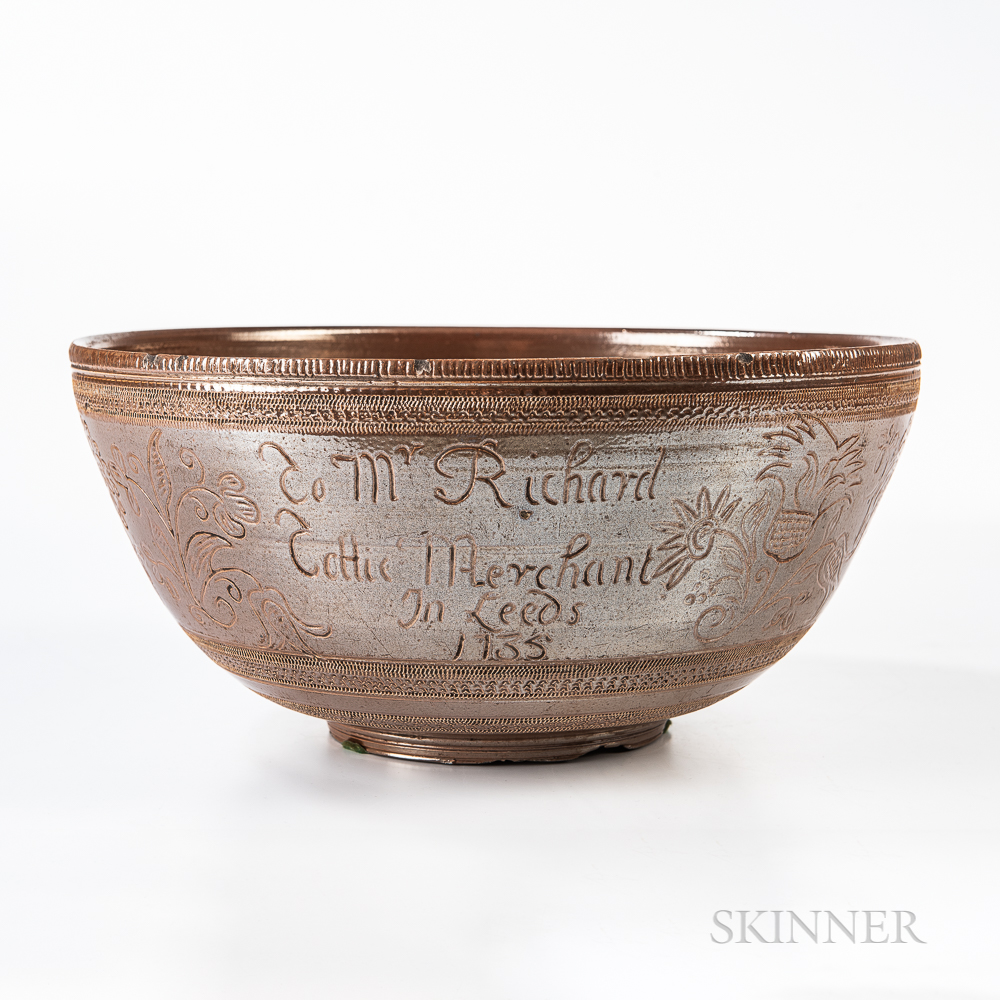 Nottingham Salt-glazed Presentation Punch Bowl