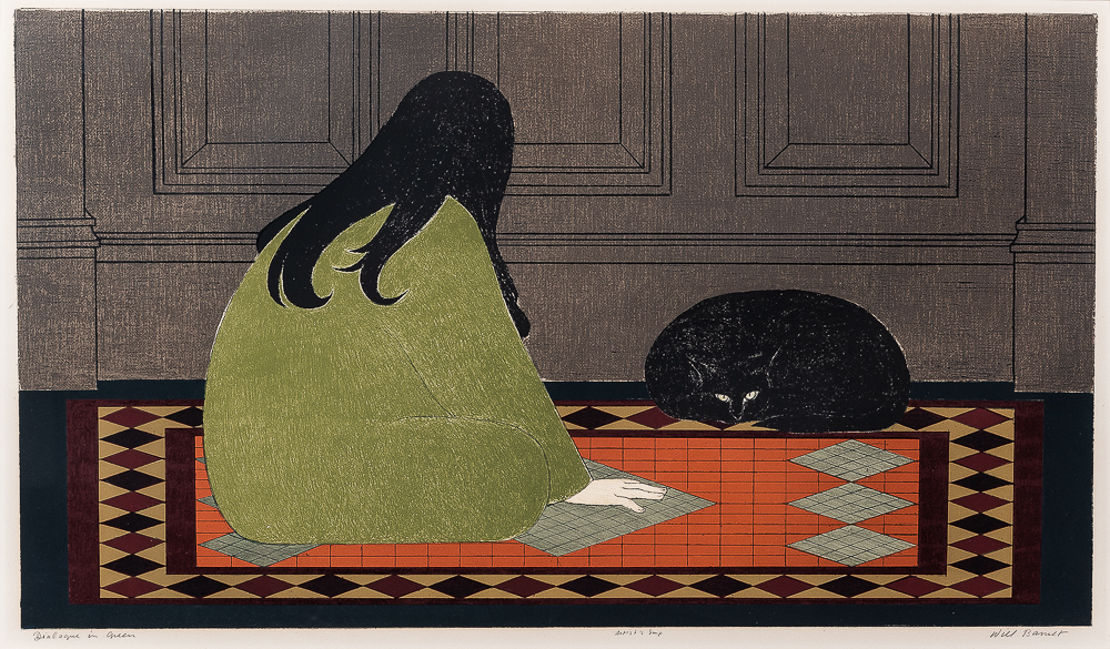 Will Barnet (American, 1911-2012)      Dialogue in Green