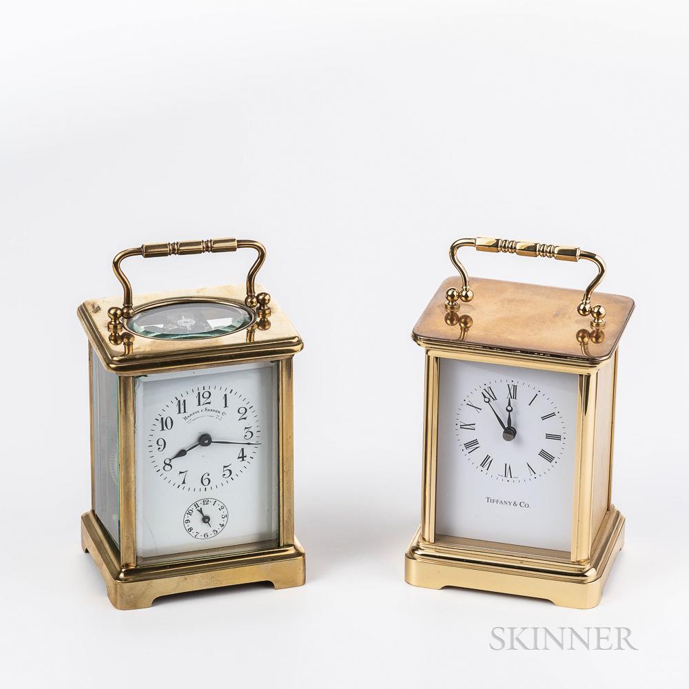 Two Brass Carriage Clocks