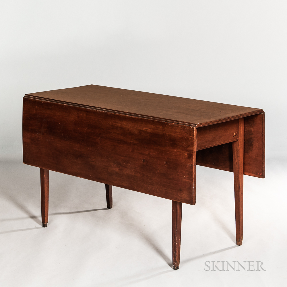 Large Federal Inlaid Cherry Drop-leaf Table