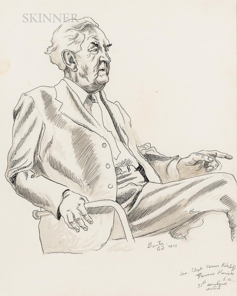 Thomas Hart Benton (American, 1889-1975)      Southern Politician
