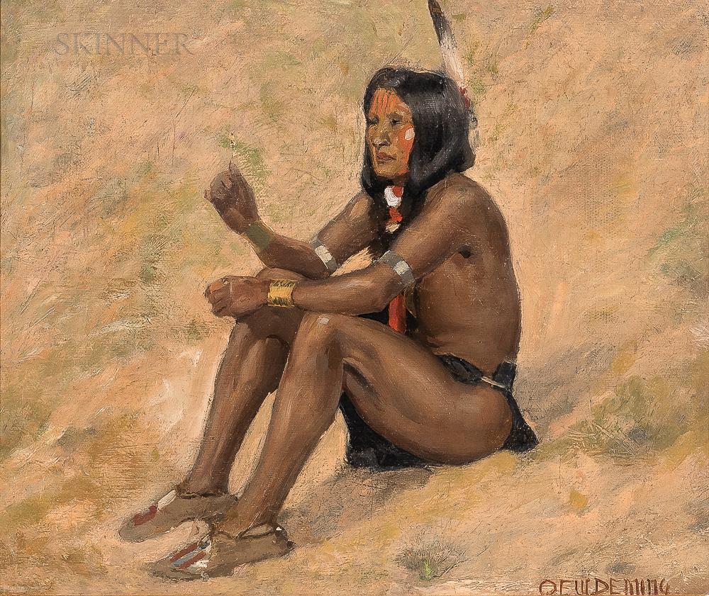 Edwin Willard Deming (American, 1860-1942)      Crow Indian Boy
