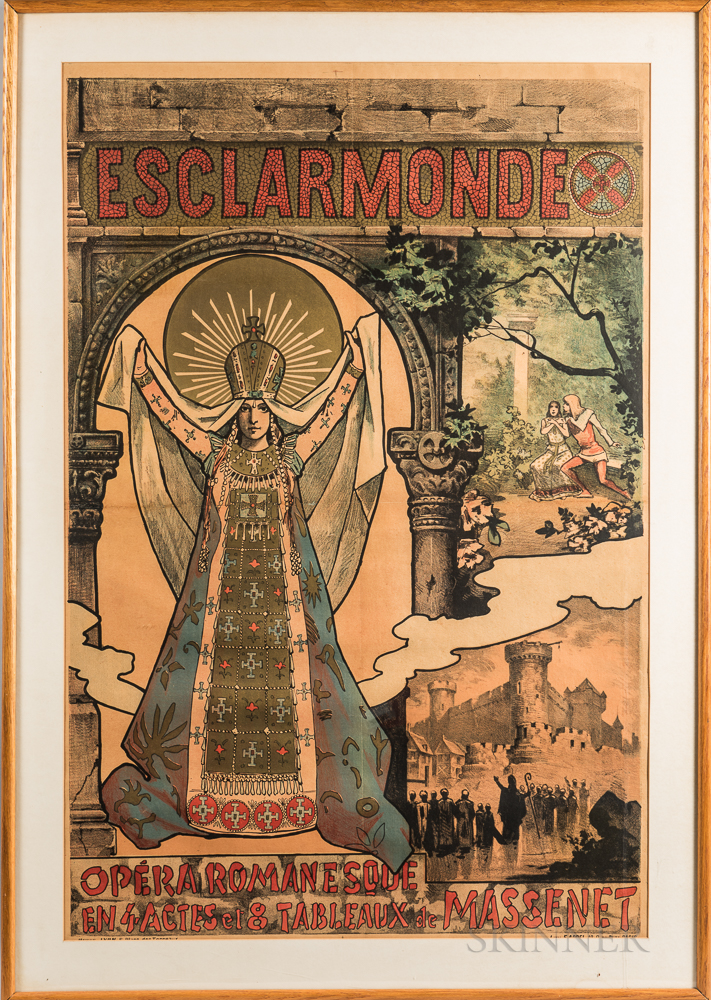 Alfred Choubrac (French, 1853-1902)      Poster for the Opera Esclarmonde