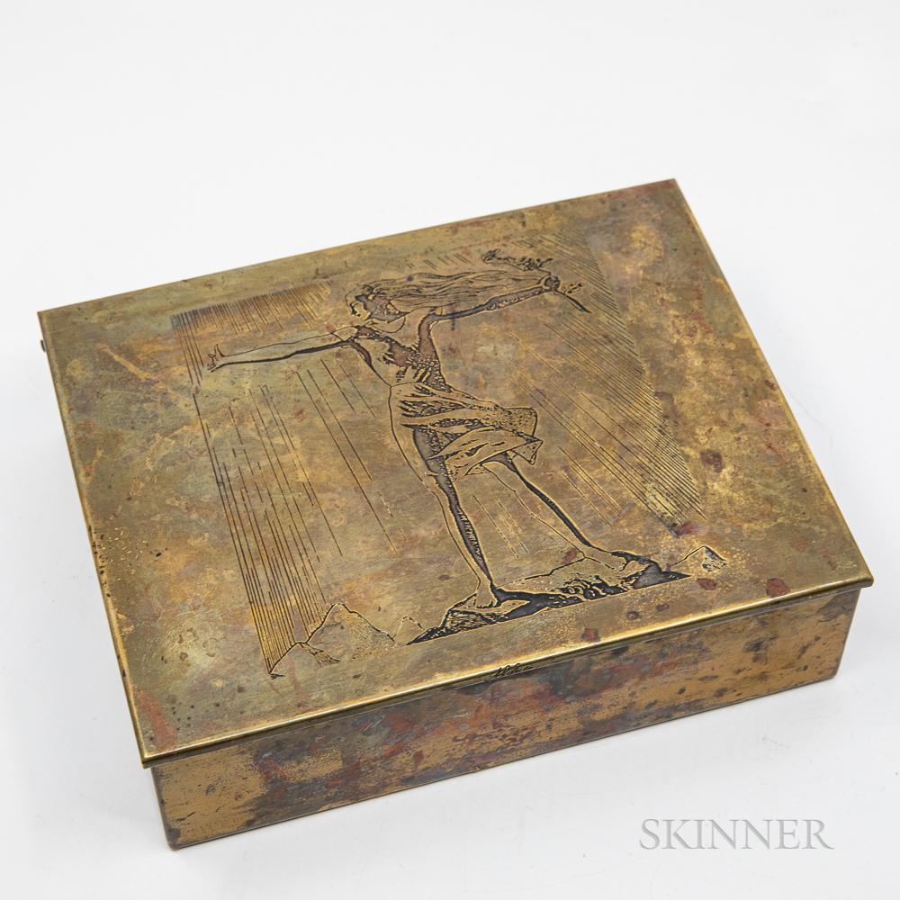 "Rockwell Kent (1882-1971) ""Sally"" Cigar Box"