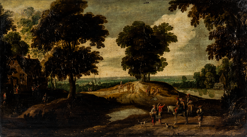 Southern Netherlands School, 17th Century      Hunters in a Landscape