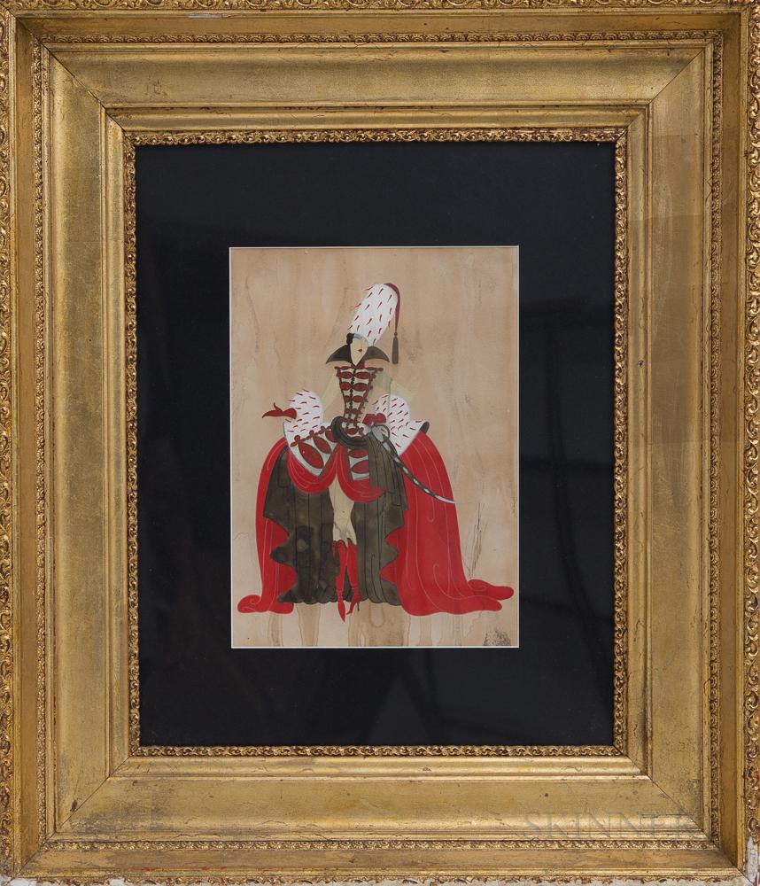 Romain De Tirtoff, called Erté (Russian, 1892-1990)      La Grande Catherine  /Costume Design for MGM Pictures