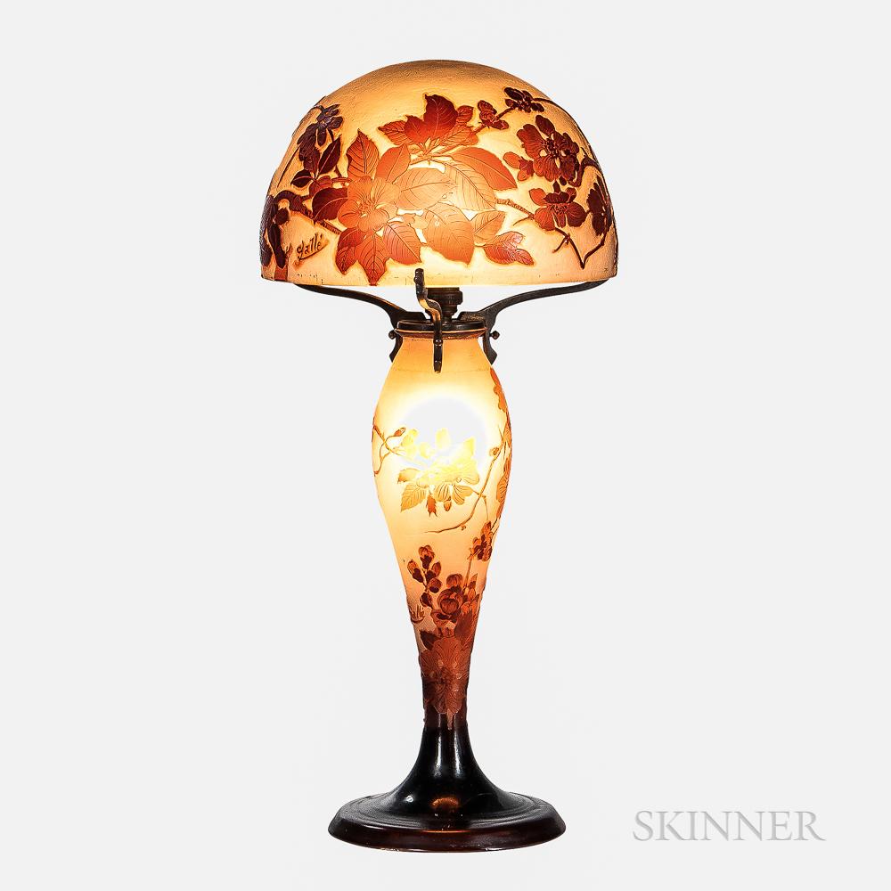 Gallé Cameo Glass Table Lamp