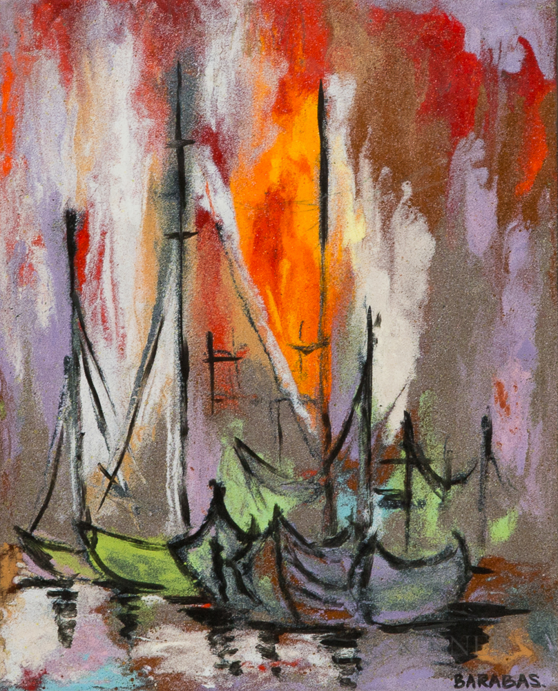 Barabas Sailboats in a Harbor