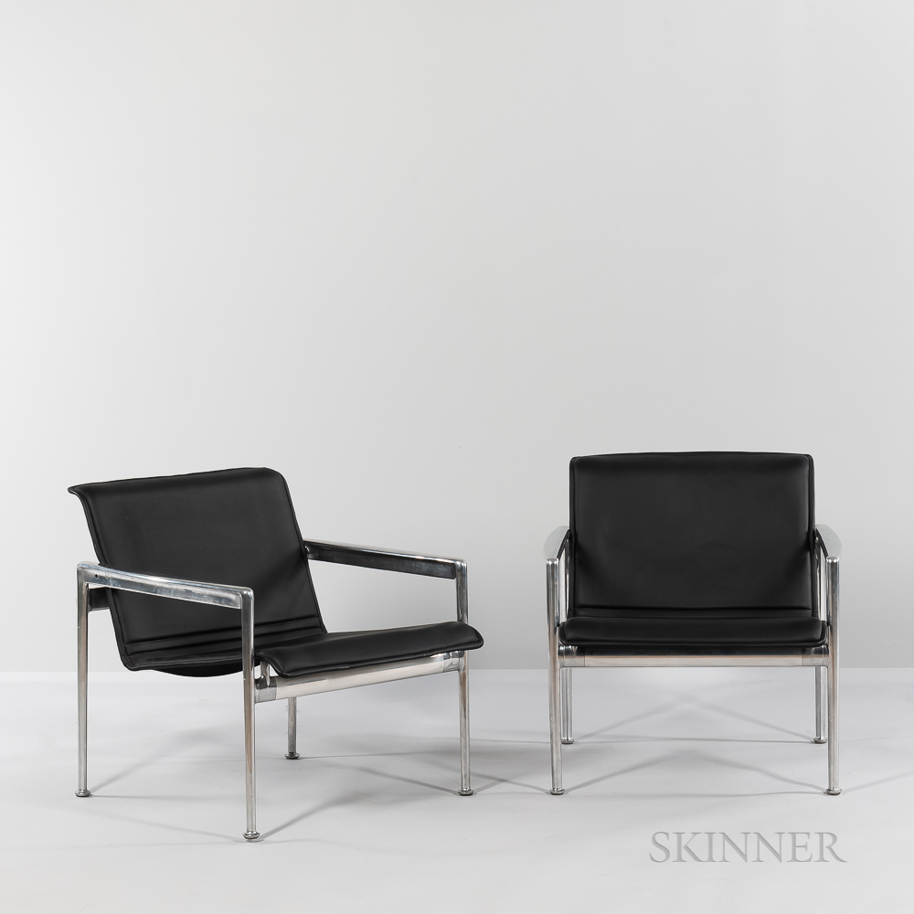 """Two Richard Schultz (American, b. 1930) for Knoll International """"Model 25L"""" Lounge Chairs"""