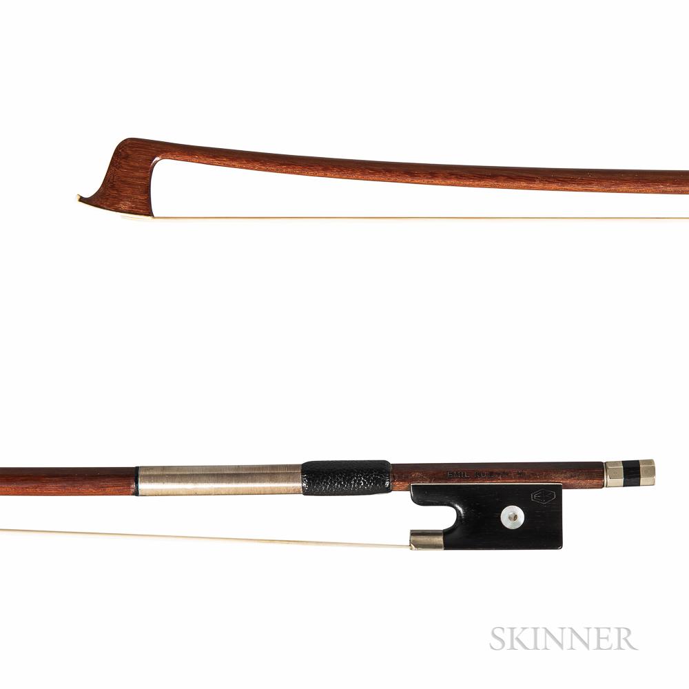 Nickel-mounted Violin Bow, Emil Kuehnl