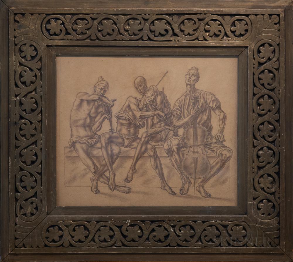Attributed to John Fenton (American, 1912-1977)      String Quartet.