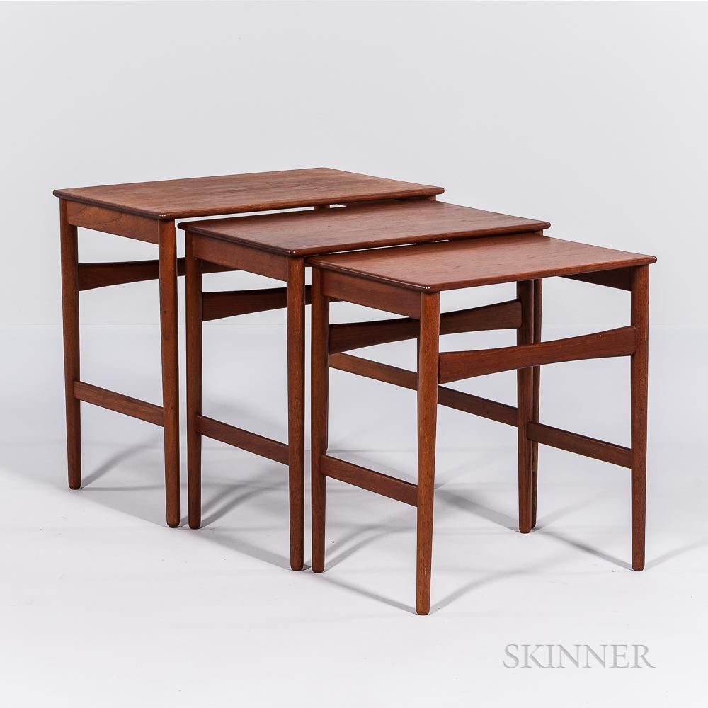 Three Hans J. Wegner (1914-2007) for Andreas Tuck Nesting Tables