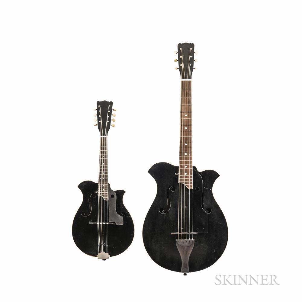 Shutt Style B1 Guitar and A2 Mandolin, 1913