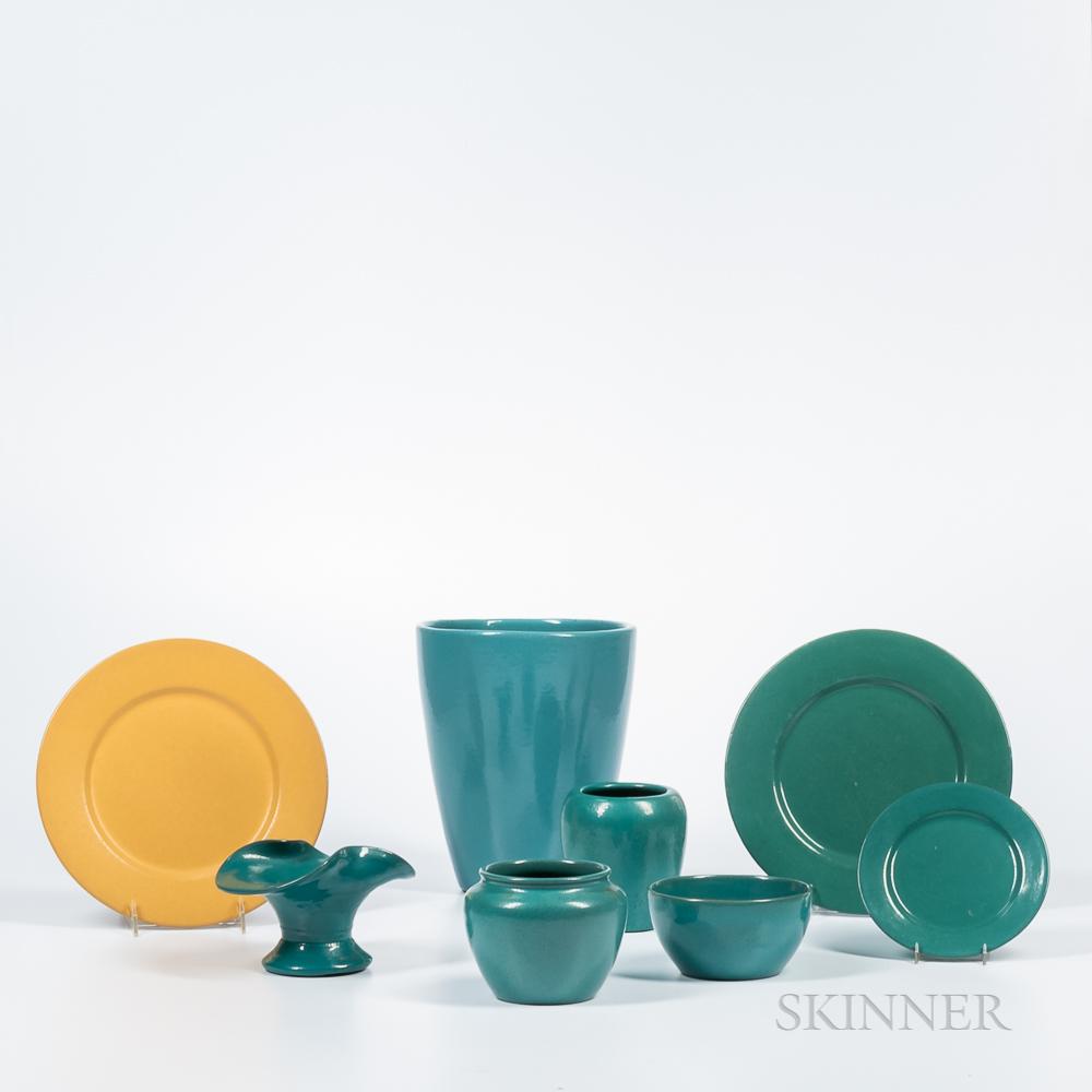 Twenty-three Pieces of Paul Revere Pottery Tableware