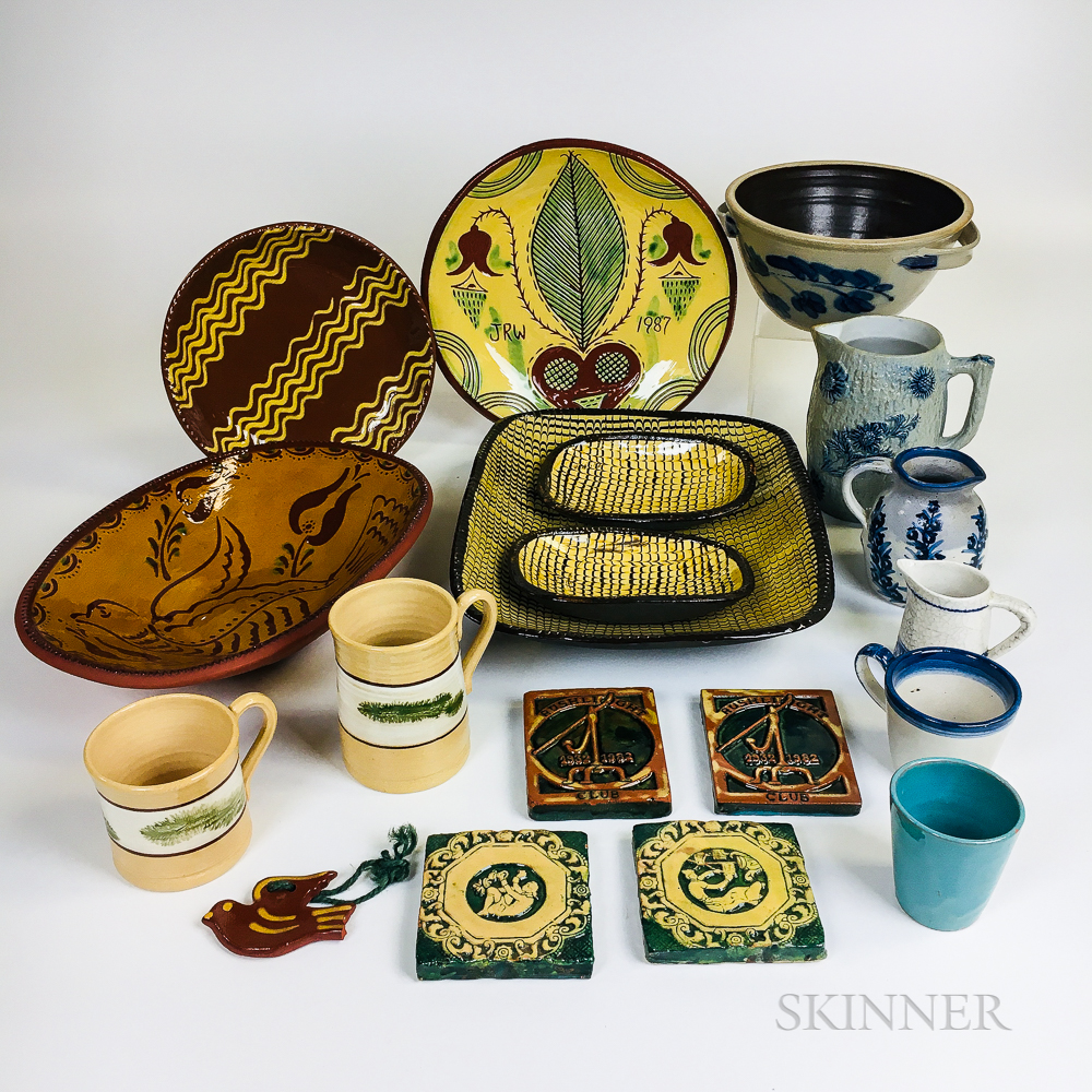 Eighteen Reproduction Earthenware Items