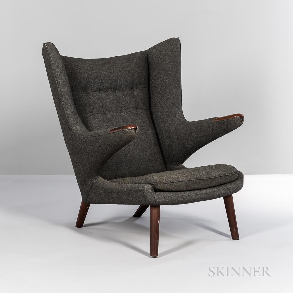 """Hans J. Wegner (1914-2007) for AP Stolen """"Model AP 19"""" """"Papa Bear"""" Lounge Chair"""