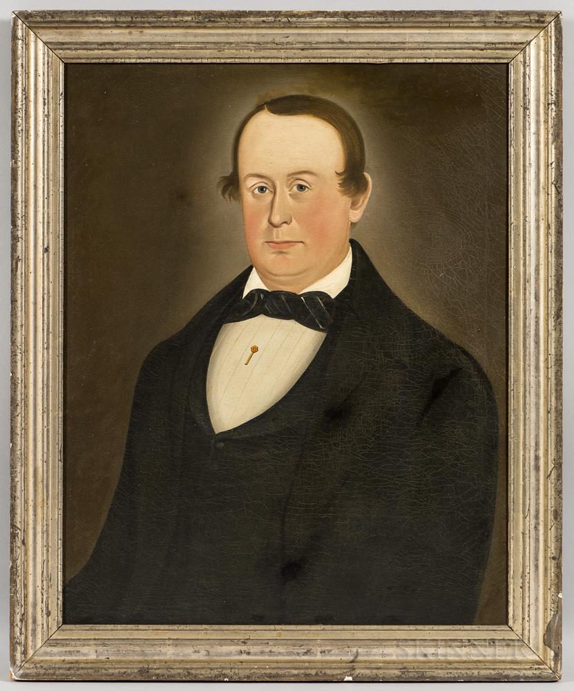 George Hartwell (Massachusetts, 1815-1901)      Portrait of a Man in a Black Jacket