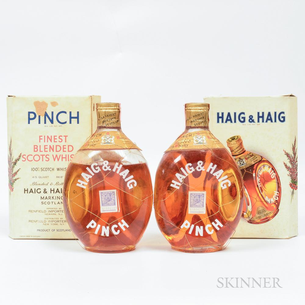 Haig & Haig Scotch Whisky, 2 4/5 quart bottles (oc) Spirits cannot be shipped. Please see http://bit.ly/sk-spirits for more info.