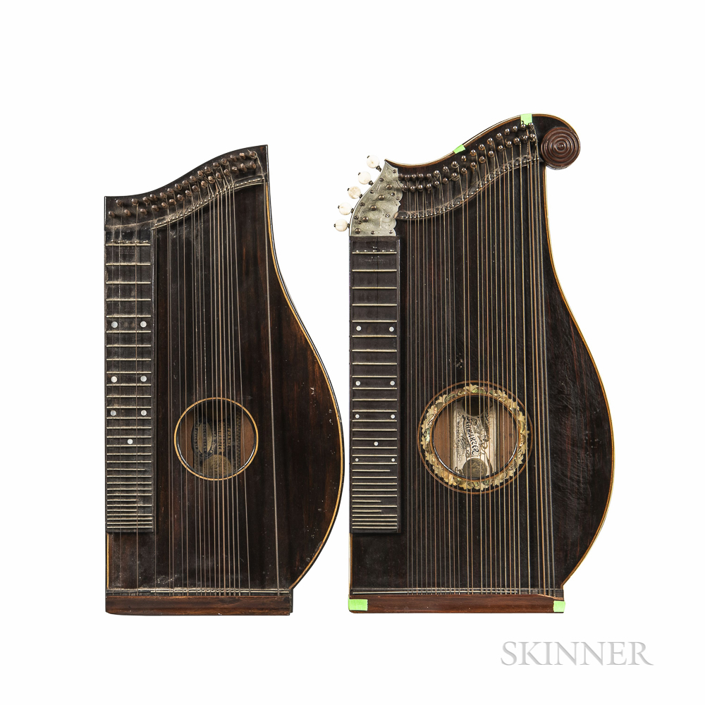 Two American Concert Zithers, Franz Schwarzer, Washington