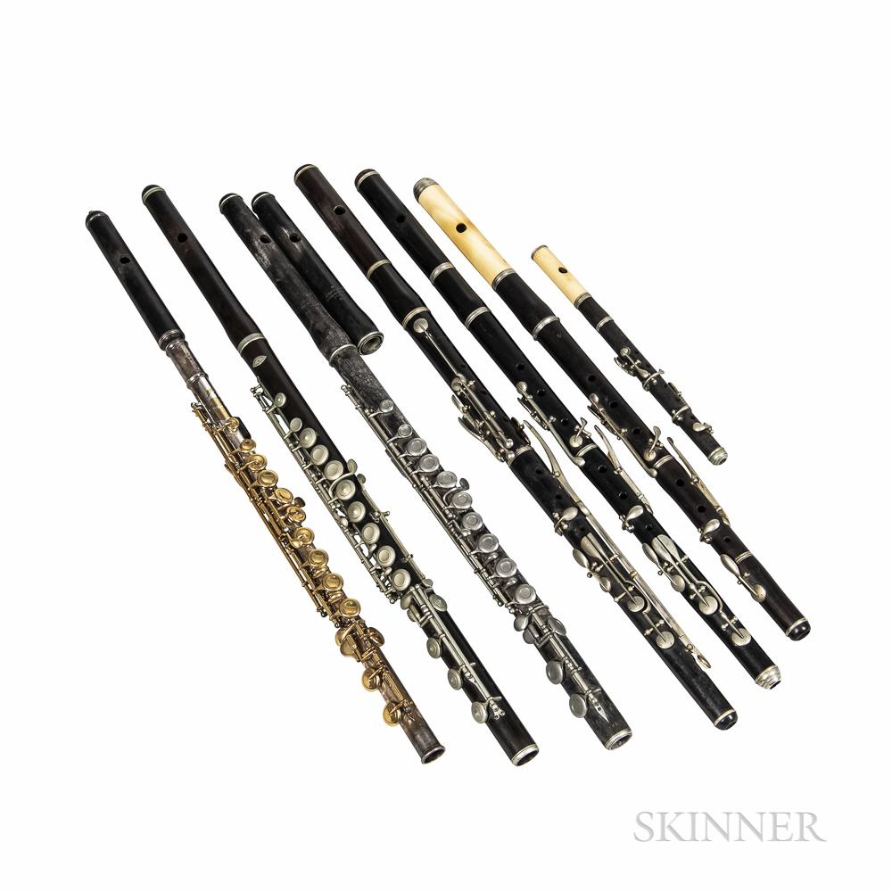 Seven Antique Flutes