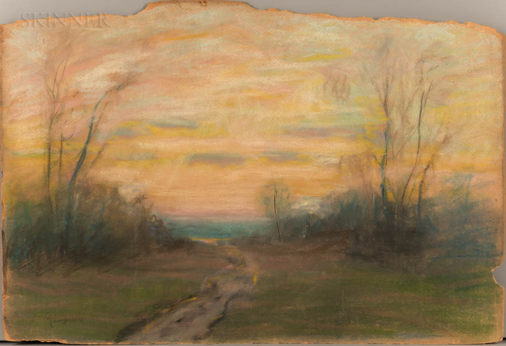 Arthur Clifton Goodwin (American, 1864-1929)      Sunset Landscape