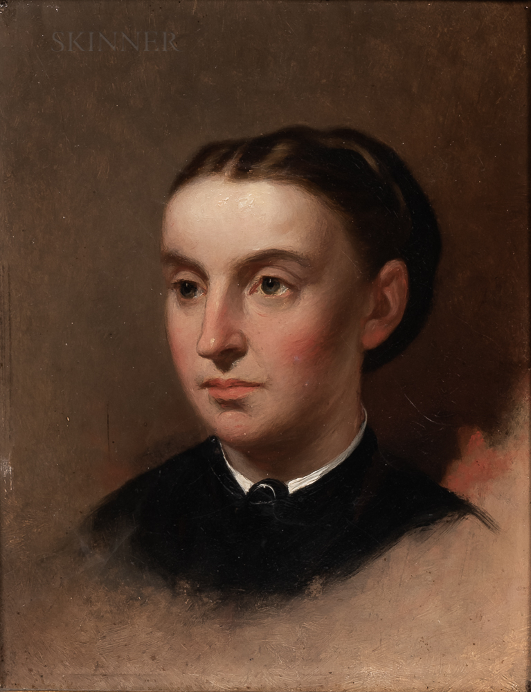 American School, 19th Century    Portrait Head of a Woman, Possibly Sarah Margaret Fuller