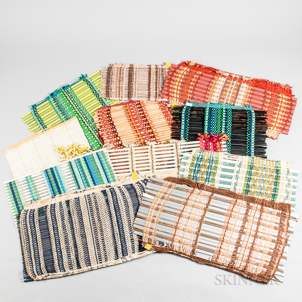 Eleven Dorothy Liebes (American, 1897-1972) Weaving Samples