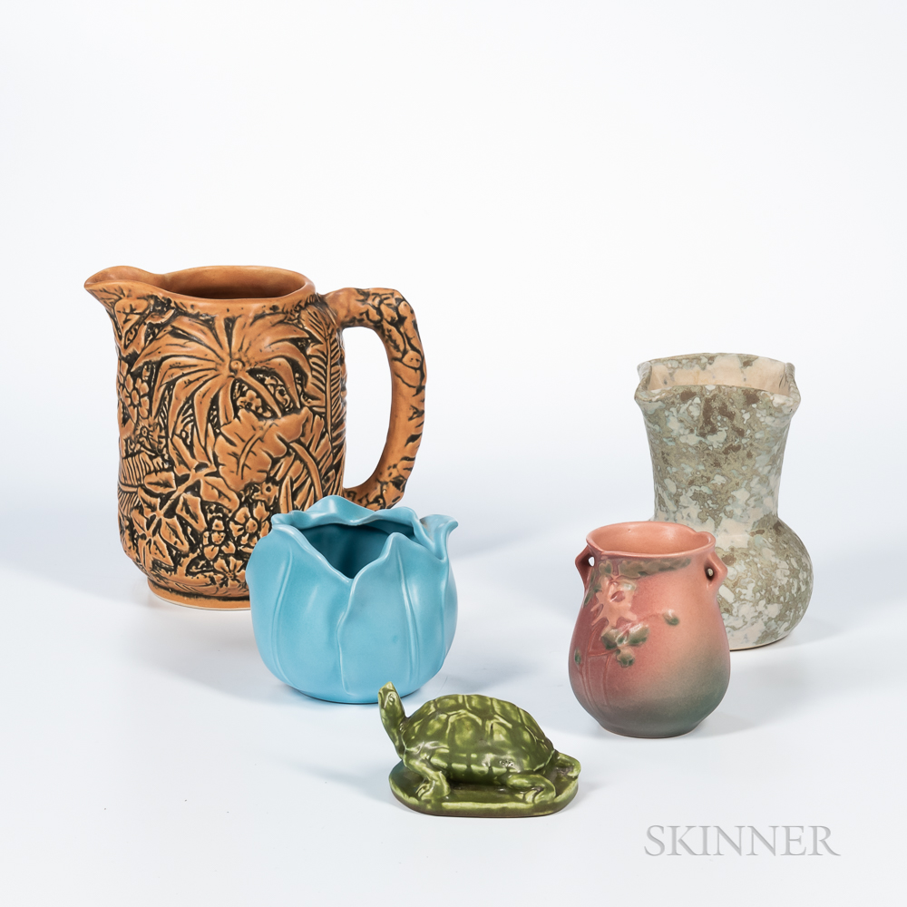 Five Pieces of Arts and Crafts Pottery