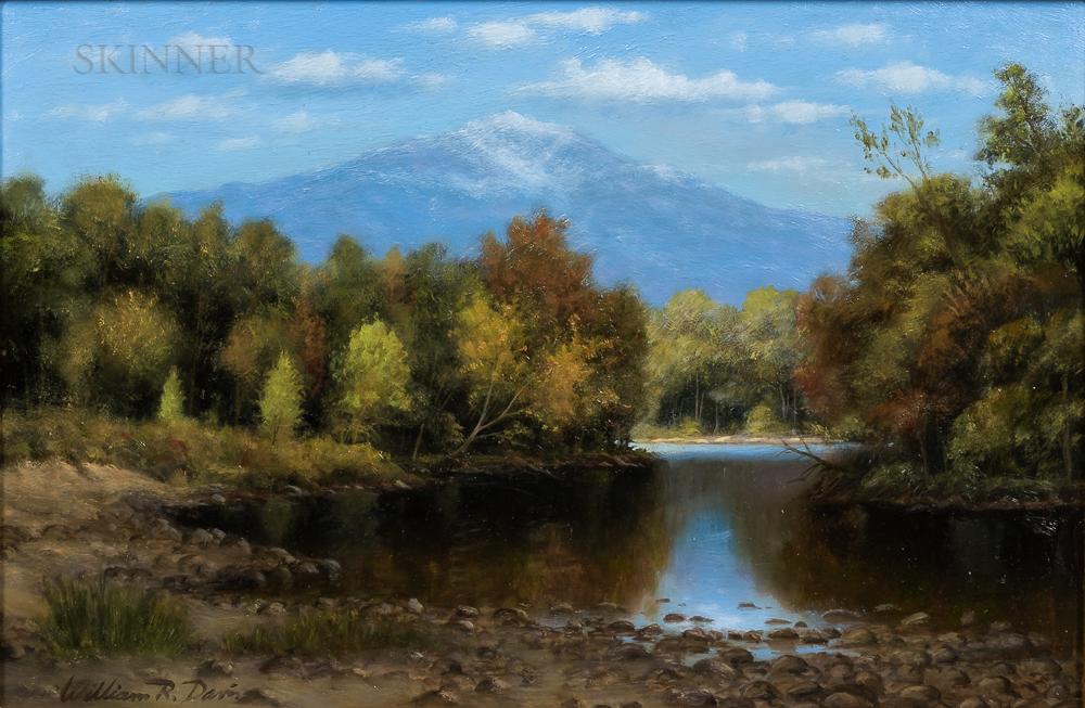 William R. Davis (American, b. 1952)      Mount Washington from the Saco River