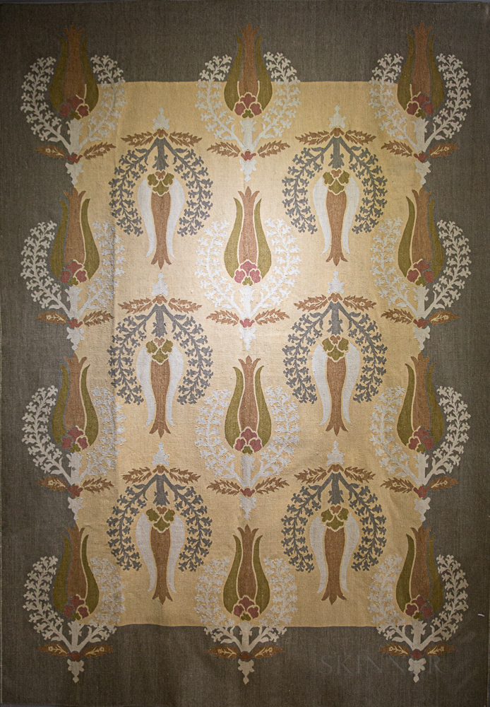 Art Nouveau Flat Weave Carpet