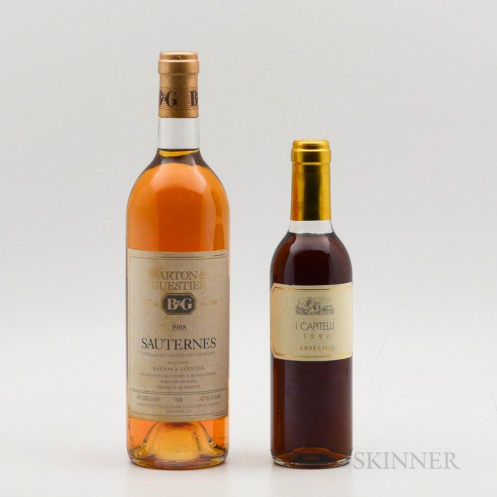 Dessert Duo, 1 bottle1 demi bottle