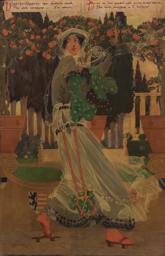 Ellen Macauley (American, Early 20th Century)      Higgledy-Piggledy
