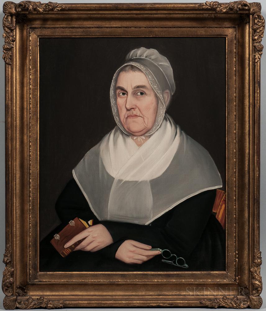 Ammi Phillips (New York/Connecticut, 1788-1865)    Portrait of Elizabeth Du Bois Bailey