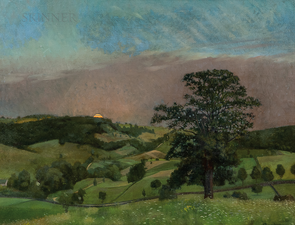 Frank von der Lancken (American, 1872-1950)      Sunset Across the Valley