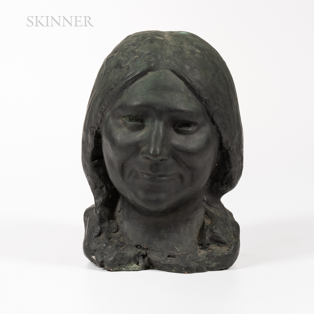 American School, 20th Century      Bust of a Native American