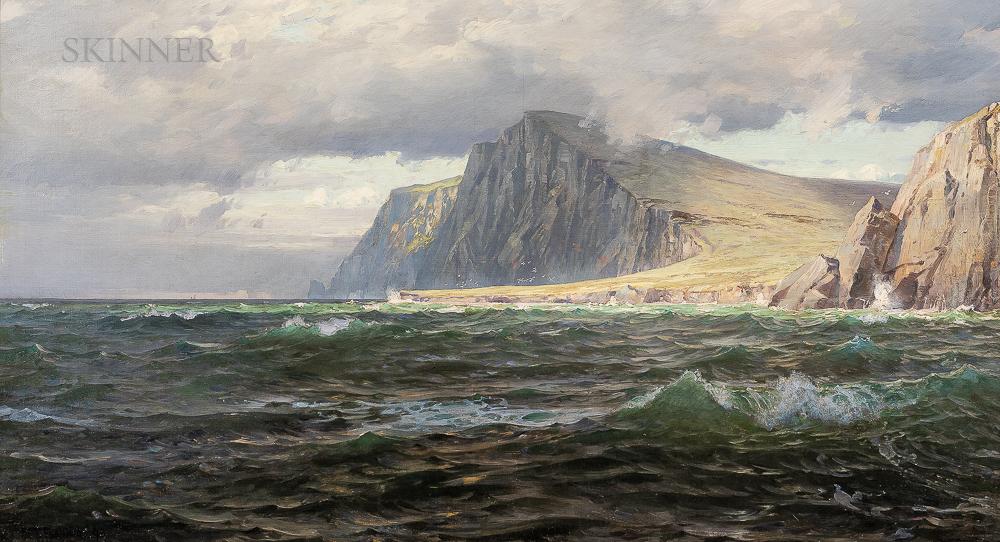 William Trost Richards (American, 1833-1905)      The Isle of Hoy