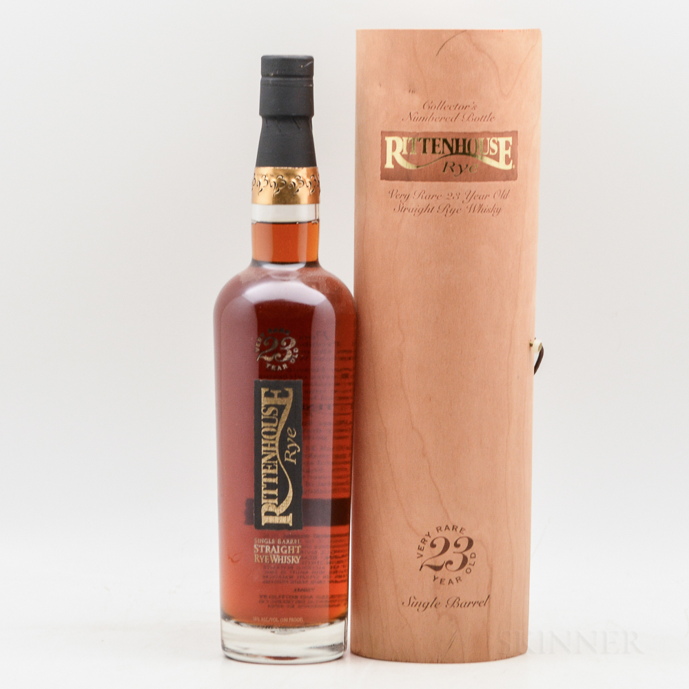Rittenhouse Rye 23 Years Old, 1 750ml bottle (ot)