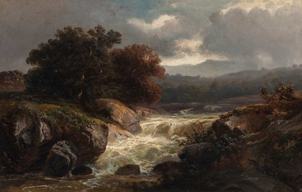 American School, 19th/20th Century      Landscape with River
