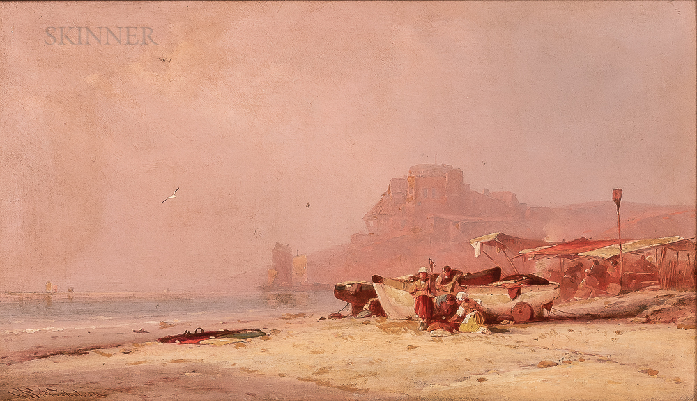 George Washington Nicholson (American, 1832-1912)      Twilight Beach, North Africa