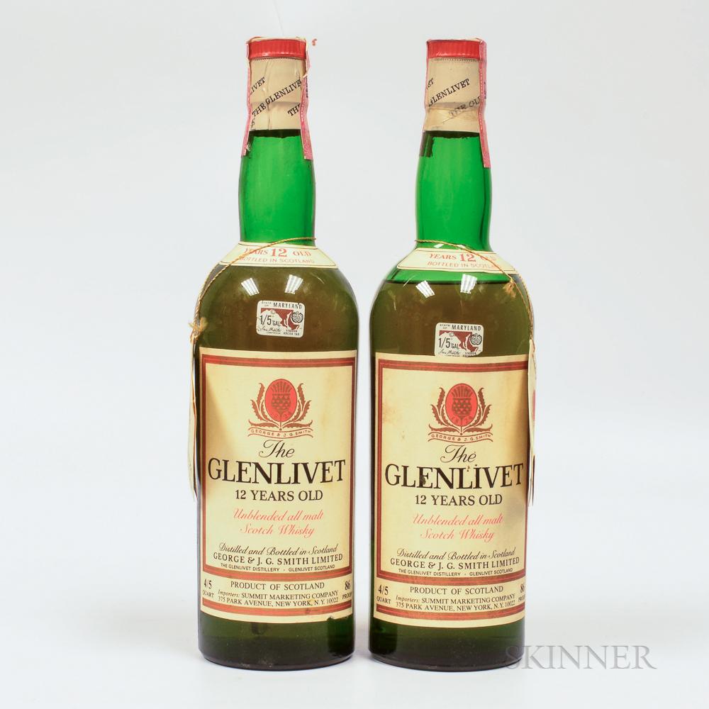 Glenlivet 12 Years Old, 2 4/5 quart bottles Spirits cannot be shipped. Please see http://bit.ly/sk-spirits for more info.