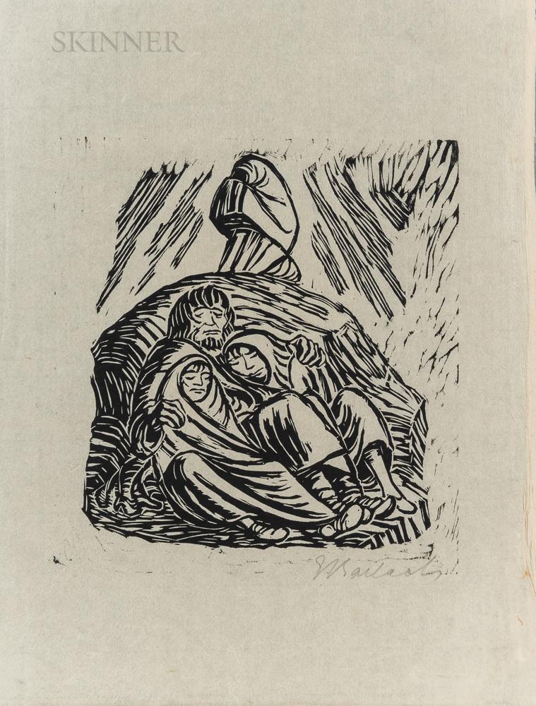 Ernst Barlach (German, 1870-1938)      Untergang (Downfall)