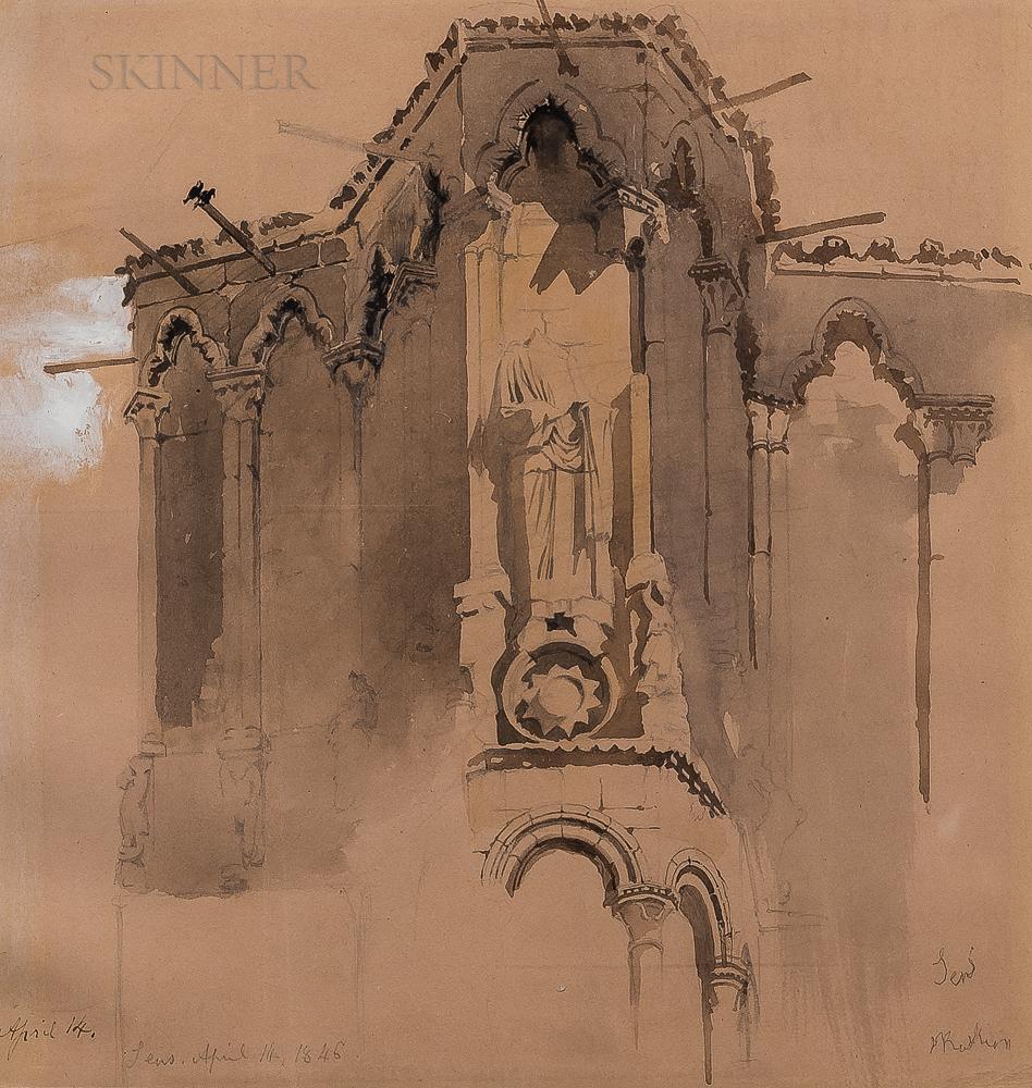 John Ruskin (British, 1819-1900)      Sens