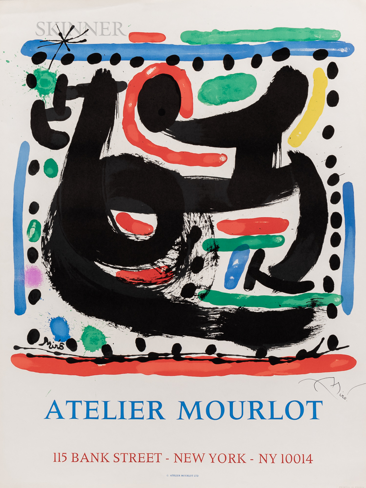 After Joan Miró (Spanish, 1893-1983)      Atelier Mourlot, Bank Street, New York