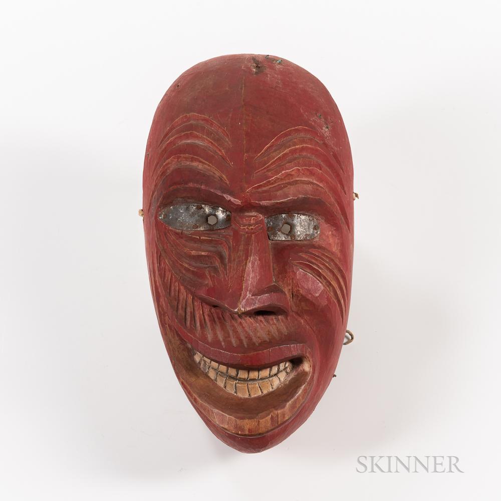 Northeast Painted Wood Mask